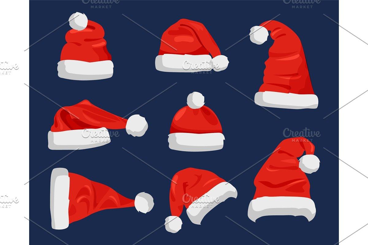 Hat of Santa Claus Closeup Vector
