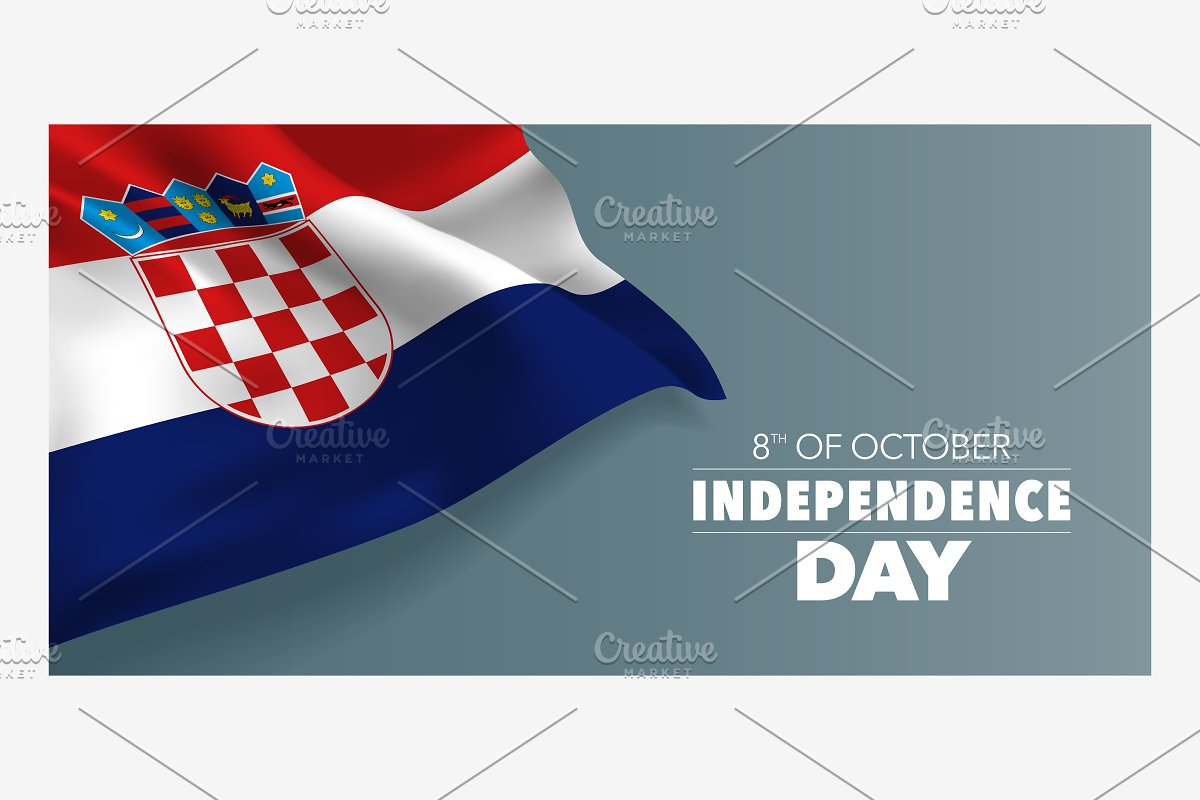 Croatia independence day vector