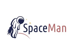 Space Man Logo Template