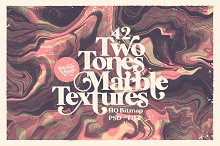 Halftone marble textures