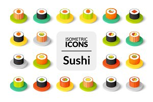 Isometric icons - Sushi