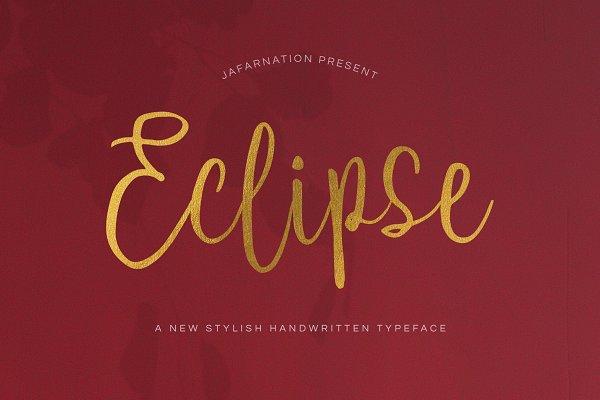 Eclipse Script Font
