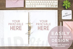 A165 Binder Stock Photo Mock Up