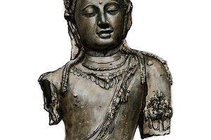 Bust of Bodhisattva Avalokiteshvara