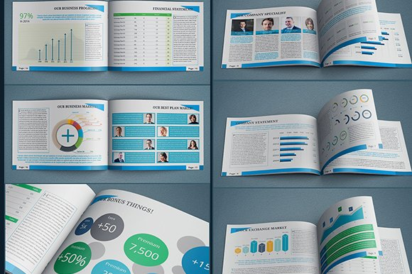 InDesign Annual Report Template Brochure Templates Creative Market - Annual report template indesign