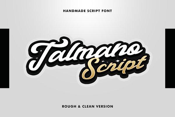 Talmano Script Font 80%OFF
