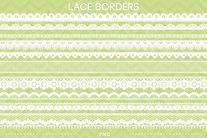 10 Lace Borders Clip Art II