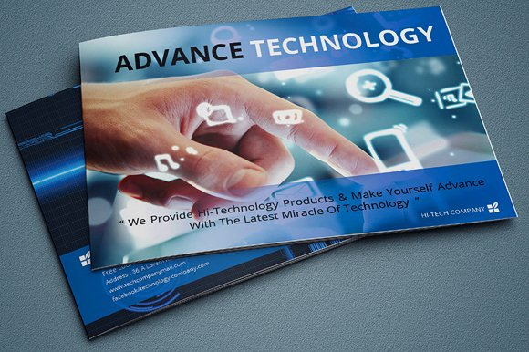 Indesign technology brochure catalog brochure templates for Technology brochure templates