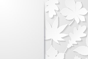 Abstract backgrounds with leaves