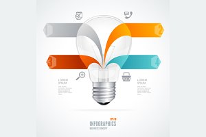 Modern Glossy Infographics Lamp
