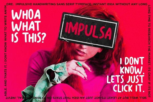 Impulsa - Handwritten Bold