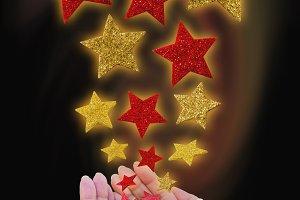 Christmas magic stars