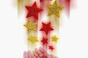 Magical stars. Christmas