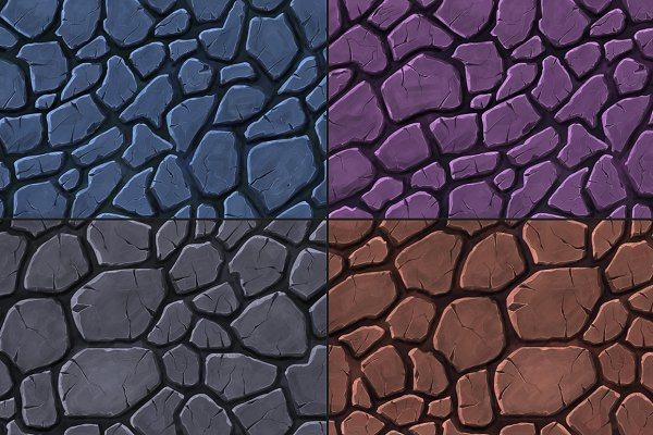 3D Rock: Marabu Textures Store - Stone Handpainted Texture