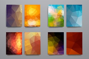 Templates with polygonal backgrounds