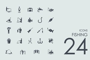 24 Fishing icons