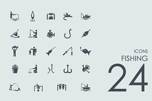 24 Fishing icons