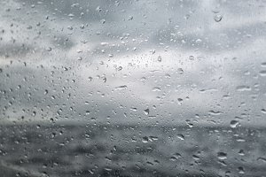 Yacht window at sea