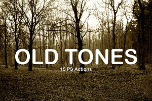(50% off) 15 Old tones PS Actions