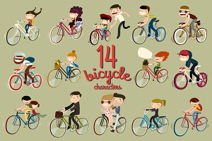 14 bicycle characters