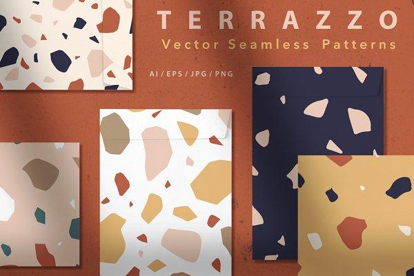 Terrazzo 15 Seamless Patterns