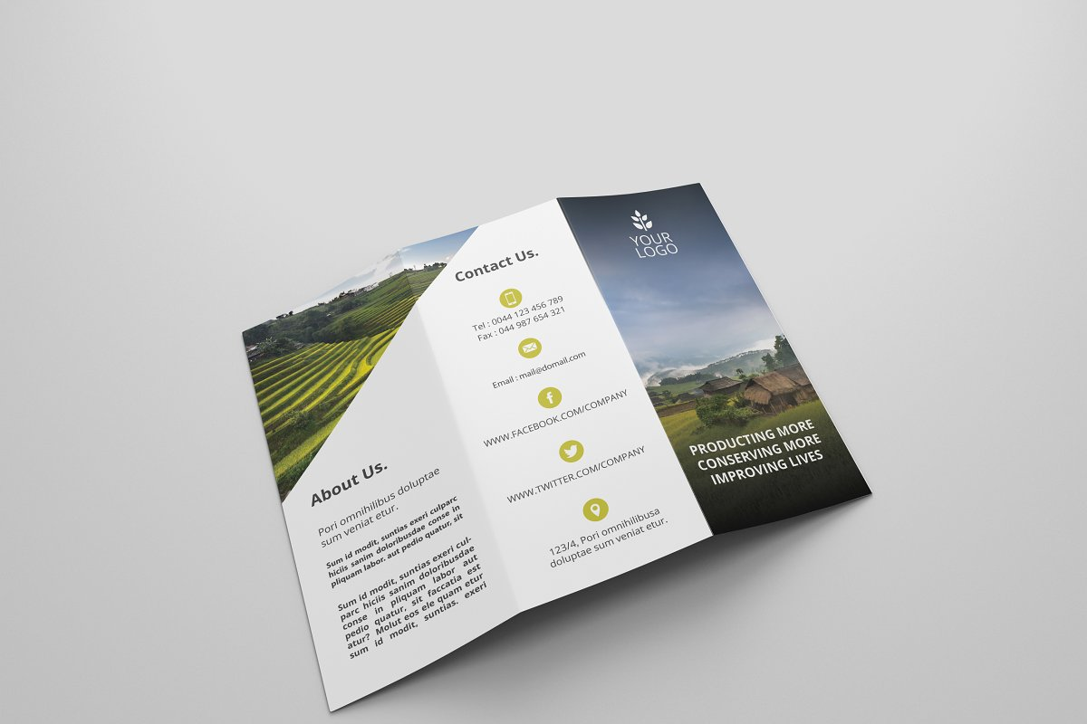 Agriculture Tri-fold Brochures