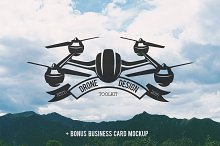 Drone Design Toolkit + bonus mockup