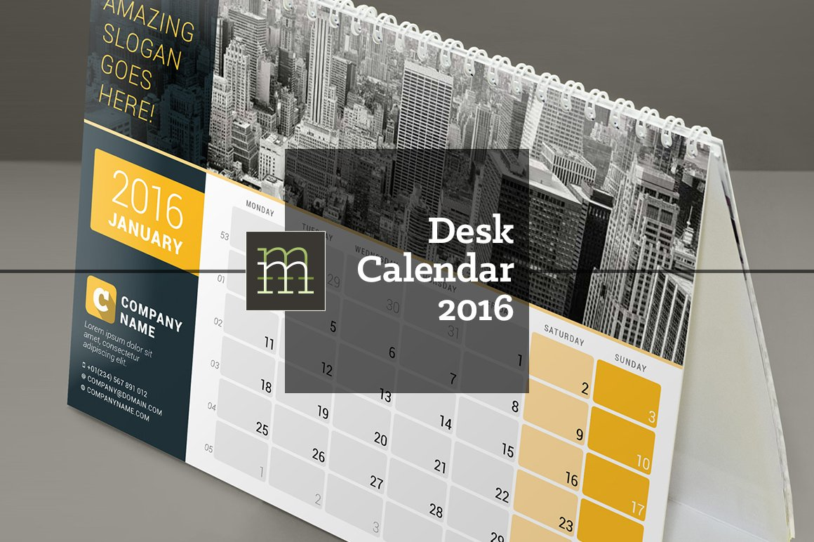 Corporate Calendar Design 2016 : Desk calendar dc stationery templates