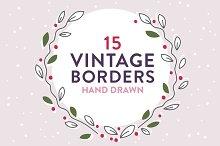 Vintage laurels and borders