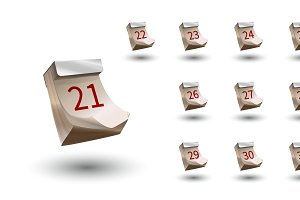 Set of realistic vector calendar