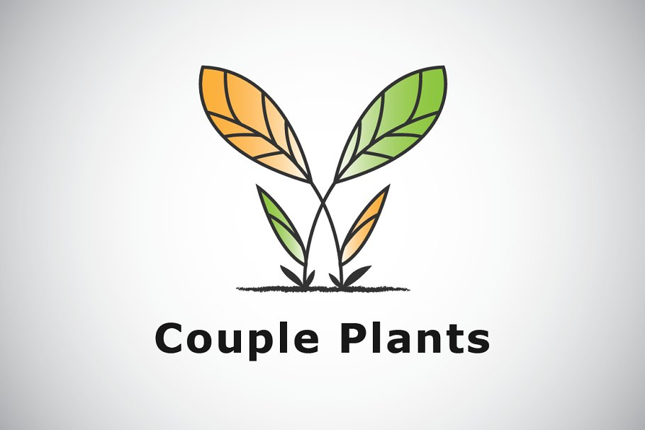 Plant Couple Logo Template