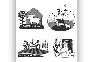 Set of farm fresh emblems