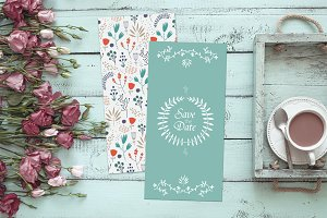 Vintage Wedding Invitations Set