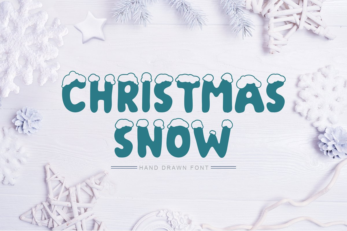 Christmas Snow Hand Drawn Font