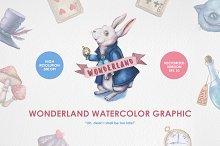 Wonderland Watercolor Graphic Set