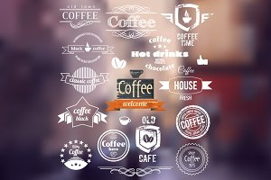 Coffee Logo. Old Town Stamp concept.