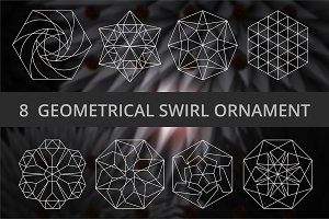 8 Geometrical swirl ornament