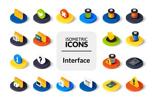 Isometric icons - Interface