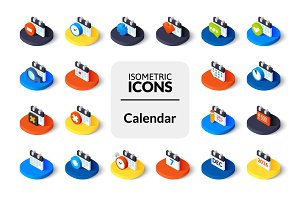 Isometric icons - Calendar