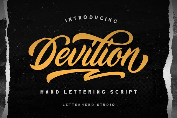 Devilion - Hand Lettering Script