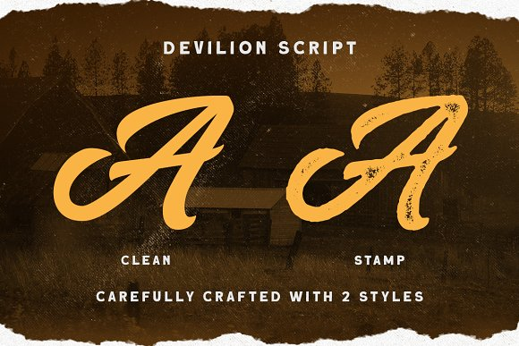 Devilion - Hand Lettering Script in Display Fonts - product preview 2