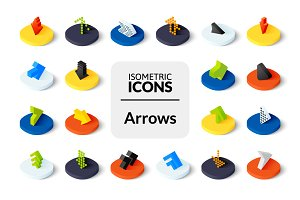Isometric icons - Arrows