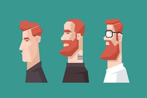 Three redhead male charaters