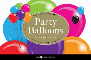 Clip Art • Party Balloons