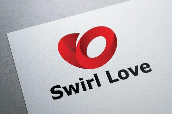 love swirl logo logo templates creative market