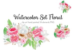 Watercolor Set Floral