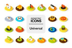 Isometric icons - Universal