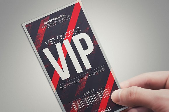 DEVIL RED - VIP PASS ~ Card Templates ~ Creative Market