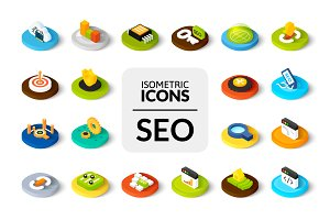 Isometric icons - SEO