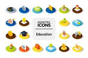 Isometric icons - Education